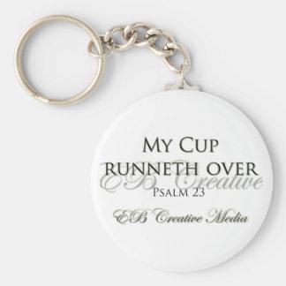 Porte-clés Médias créatifs d'eb - ma tasse Runneth plus de