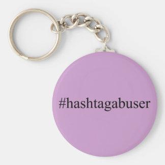 Porte-clés Médias drôles de Social de trompeur de Hashtags