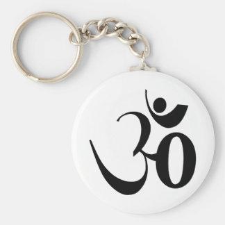 Porte-clés Méditation de yoga de l'OM