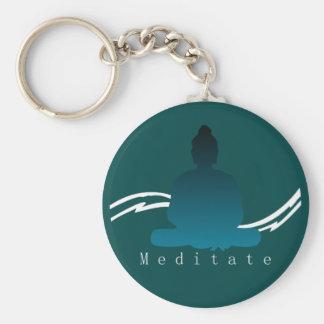 """Porte-clés """"Méditent"""" beau Bouddha"""
