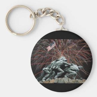 Porte-clés Mémorial de guerre de Corp. marine avec des feux