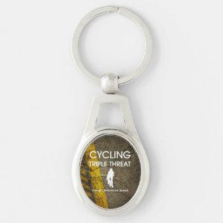 Porte-clés Menace triple de recyclage SUPÉRIEURE
