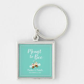 Porte-clés Menthe élégante à la faveur mignonne de mariage