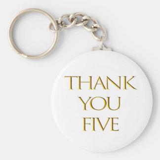 Porte-clés Merci cinq !