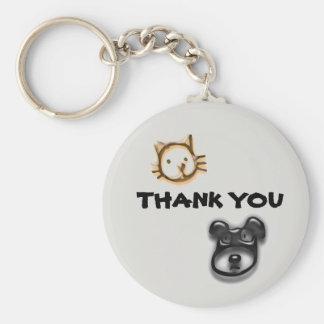 Porte-clés Merci peu coûteux des soins des animaux de garde