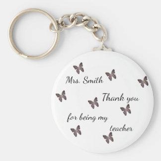 Porte-clés Merci pour être mon papillon de mosaïque de