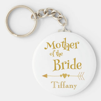 Porte-clés Mère de la mémoire de mariage de jeune mariée