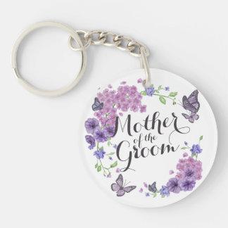 Porte-clés Mère des papillons de marié épousant le porte -