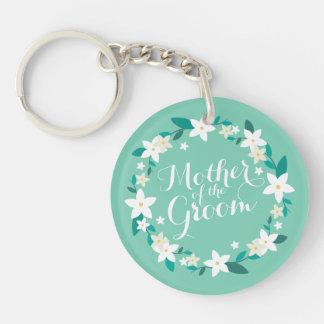 Porte-clés Mère du porte - clé élégant du mariage   de marié