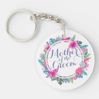 Porte-clés Mère du porte - clé tropical de mariage de marié