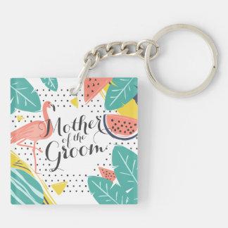 Porte-clés Mère du porte - clé tropical d'été de marié