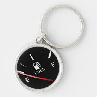 Porte-clés Mesure noire vide de gaz combustible