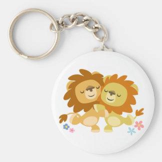 Porte-clés mignon de tango de deux lions de bande
