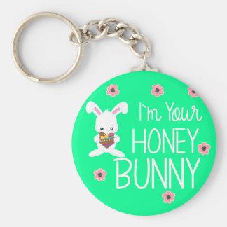 Porte-clés Mignon je suis vos fleurs de lapin de miel