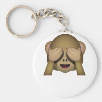Porte-clés Mignon ne voir l'aucun singe mauvais Emoji