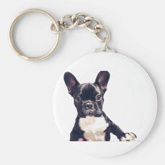 Porte - clés mignons de chien porte-clé rond