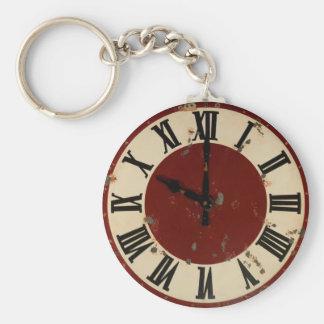 Porte-clés Minable vintage de visage d'horloge de montre de