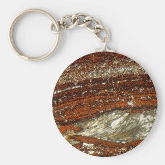 Porte-clés Minerai de fer sous le microscope