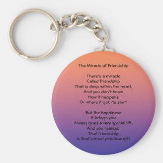 Porte-clés Miracle de porte - clé de poème d'amitié