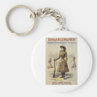 Porte-clés Mlle vintage Annie Oakley, cow-girl occidentale