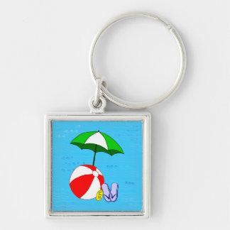 Porte-clés Modèle de parapluie de piscine de ballon de plage