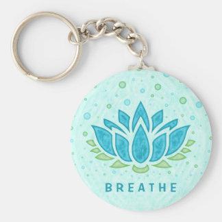 Porte-clés Modèle des textes du zen | de fleur de Lotus de