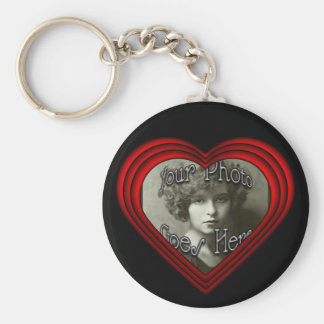 Porte-clés Modèle parfait de cadre de photo de coeur