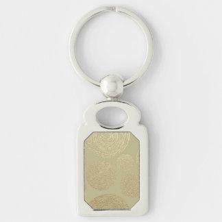 Porte-clés moderne, or, pois, métallique, élégant, chic, Han
