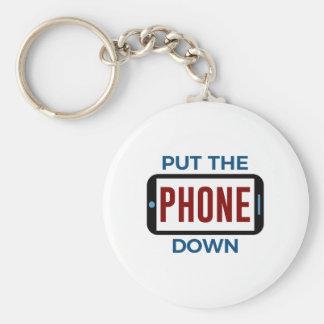 Porte-clés Moins de téléphone plus de contact humain de