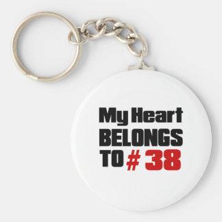 Porte-clés Mon coeur appartient # à 38