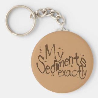 Porte-clés Mon de sédiments porte - clé exactement