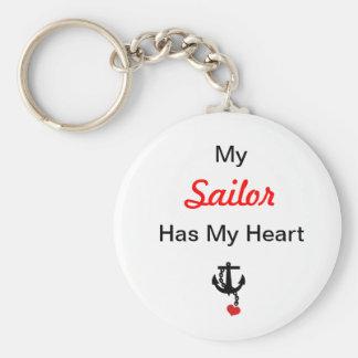 Porte-clés Mon marin a mon coeur