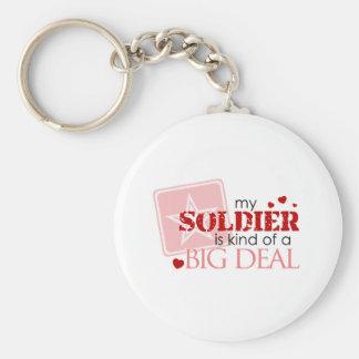 Porte-clés Mon soldat est un peu une affaire