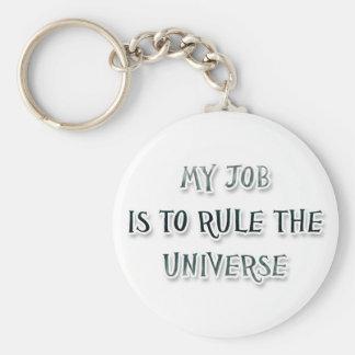 Porte-clés Mon travail est d'ordonner l'univers