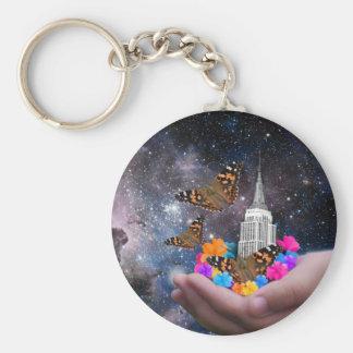 Porte-clés Monde entier dans des mes mains