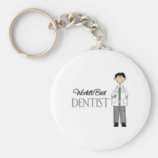 Porte-clés Mondes le meilleur dentiste, porte - clé d'homme