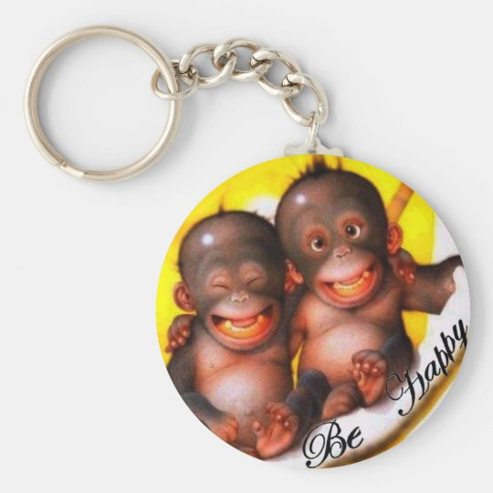 Porte-clés Monkey Be Happy