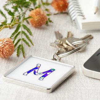 Porte-clés Monogramme au-dessus de porte - clé de carré blanc