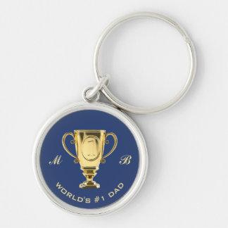 Porte-clés Monogramme de papa du numéro un du monde