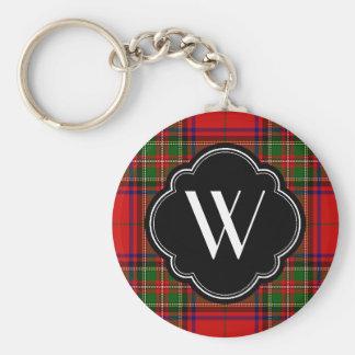 Porte-clés Monogramme de plaid de Stewart