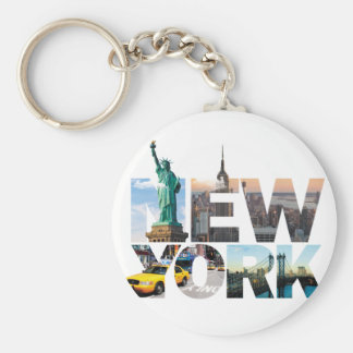 Porte-clés Montage d'alphabet de New York