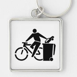 Porte-clés Montez un vélo pas une voiture