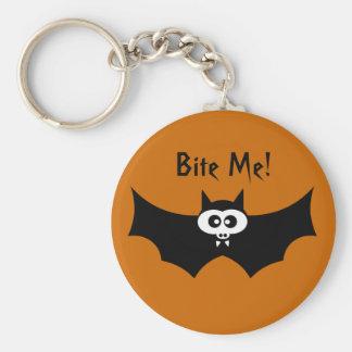 Porte-clés Mordez-moi batte de Halloween