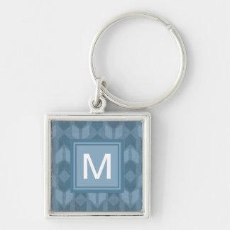 Porte-clés Motif bleu extérieur de flèche d'étape | de Geo