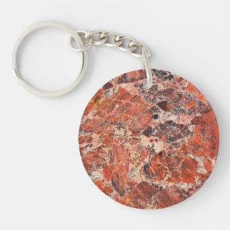 Porte-clés Motif bréchiforme de pierre de jaspe