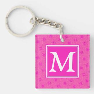 Porte-clés Motif de cercles de roses indien de monogramme