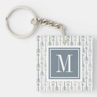 Porte-clés Motif de flèche d'envie de voyager d'aquarelle