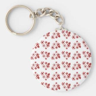 Porte-clés Motif de fleurs rouge