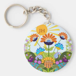 Porte-clés Motif de Paisley, fleurs d'imaginaire et