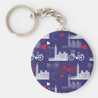 Porte-clés Motif de points de repère de Londres
